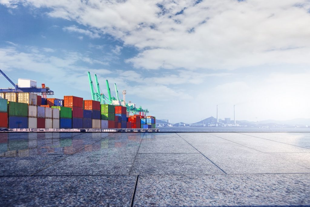 container terminal?Wharf, transport